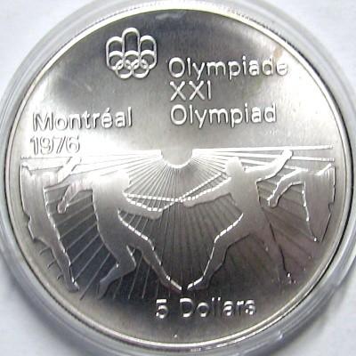 5 Dollar 1976 Fechten Kanada Münzen Wert Ucoinnet