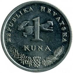 Monedă > 1kuna, 1996-2018 - Croația  - obverse