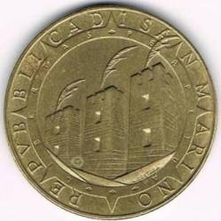 Moneda > 200lire, 1992 - San Marino  (500è aniversari - Descobriment d'Amèrica) - obverse