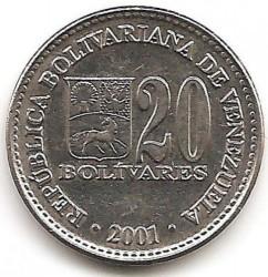 Coin > 20bolívares, 2000-2001 - Venezuela  - obverse