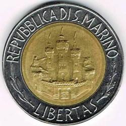 Moneda > 500lire, 1984 - San Marino  (Científics) - obverse