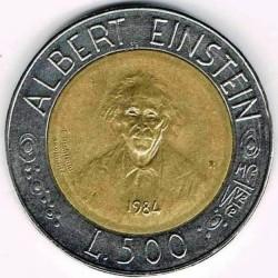 Moneda > 500lire, 1984 - San Marino  (Científics) - reverse