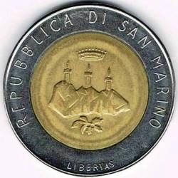 العملة > 500ليرة, 1986 - سان مارينو  (Evolution of Technology) - obverse
