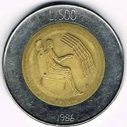 العملة > 500ليرة, 1986 - سان مارينو  (Evolution of Technology) - reverse