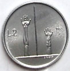 Munt > 2lire, 1983 - San Marino  (Nuclear Threat) - reverse