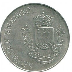 Coin > 500 lire, 1981 - San Marino  (2000th Anniversary - Death of Virgil, Georgics /Agriculture/) - reverse