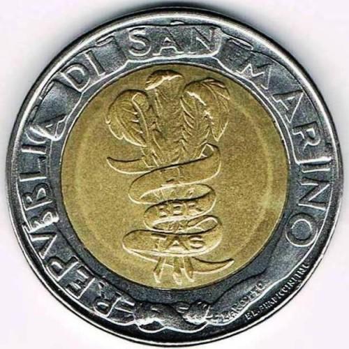 500 Lire 1995 San Marino Münzen Wert Ucoinnet