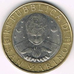 Moneda > 1000liras, 1998 - San Marino  - obverse