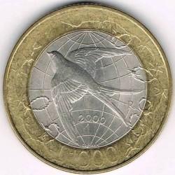 Монета > 1000лір, 2000 - Сан-Марино  - reverse