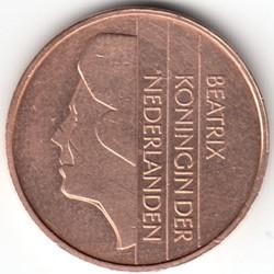 Monedă > 5cenți, 1982-2001 - Regatul Țărilor de Jos  - obverse