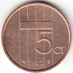 Монета > 5центов, 1982-2001 - Нидерланды  - obverse