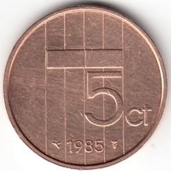 Monedă > 5cenți, 1982-2001 - Regatul Țărilor de Jos  - reverse
