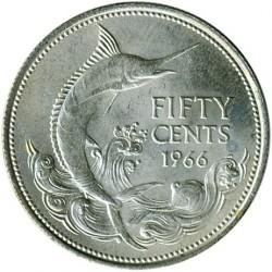 硬币  /> 50分, 1966-1970 - 巴哈马 - reverse