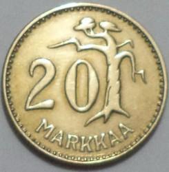 Münze > 20Mark, 1956 - Finnland  - reverse