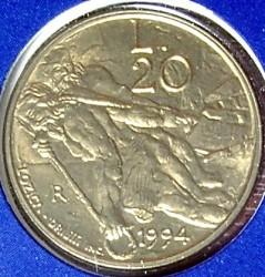 Moneda > 20liras, 1994 - San Marino  - reverse