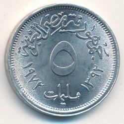Монета > 5мілімів, 1972 - Єгипет  - reverse
