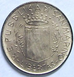 Монета > 200лір, 1981 - Сан-Марино  (Мир) - reverse