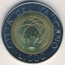 Moneta > 500lirów, 1983 - Watykan  (Stworzenie Świata) - obverse