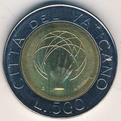 Moneta > 500lirów, 1983 - Watykan  (Stworzenie Świata) - reverse