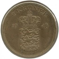 Coin > 2kroner, 1948 - Denmark  - obverse