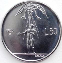 Moneda > 50liras, 1983 - San Marino  (Amenaza Nuclear) - reverse