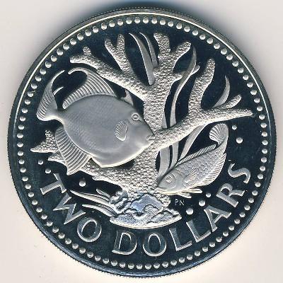 2 Dollars Barbade 1983