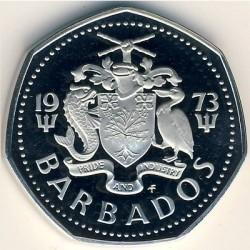 Pièce > 1dollar, 1973-1986 - Barbades  - obverse