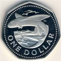 Pièce > 1dollar, 1973-1986 - Barbades  - reverse