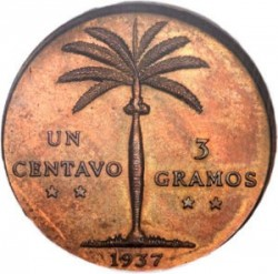מטבע > 1סנטאבו, 1937-1961 - הרפובליקה הדומיניקנית  - reverse