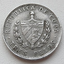 Moneta > 3pesos, 1990 - Kuba  (Ernesto Che Gevara) - obverse