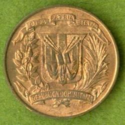 Монета > 1сентаво, 1937-1961 - Доминиканска Република  - obverse