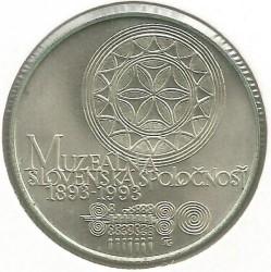 Moneta > 100corone, 1993 - Cecoslovacchia  (100° anniversario -  Società museale slovacca) - reverse