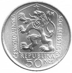 Moneta > 50corone, 1975 - Cecoslovacchia  (100° anniversario - Nascita di  Stanislav Kostka Neumann) - obverse