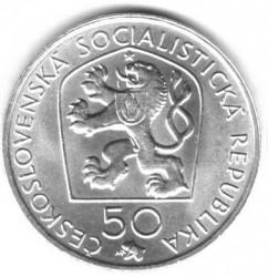 Moneta > 50corone, 1972 - Cecoslovacchia  (50° anniversario - Morte di Josef Václav Myslbek ) - obverse