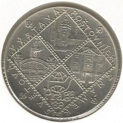Moneta > 100corone, 1988 - Cecoslovacchia  (Esposizione mondiale della filatelia a Praga) - obverse