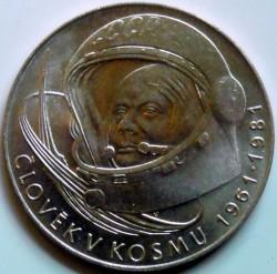 Moneda > 100coronas, 1981 - Checoslovaquia  (20th Anniversary of the First Human Spaceflight) - reverse