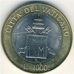 Moneta > 1000lirów, 2000 - Watykan  (Spotkanie Papieża z Patriarchą Kościoła Prawosławnego) - reverse