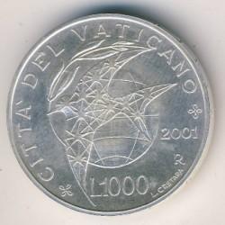 Монета > 1000лір, 2001 - Ватикан  (Мир) - reverse