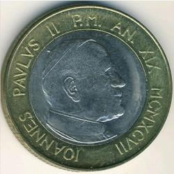 Mynt > 1000lire, 1997 - Vatikanstaten  - obverse