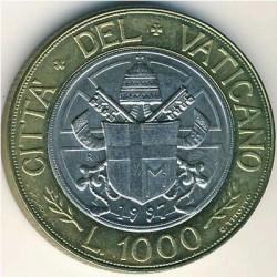 Mynt > 1000lire, 1997 - Vatikanstaten  - reverse