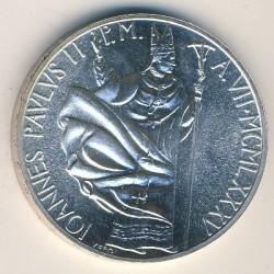 Moneta > 1000lirów, 1985 - Watykan  (7 rok pontyfikatu) - obverse