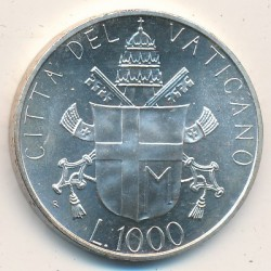 Mynt > 1000lire, 1986 - Vatikanstaten  - obverse
