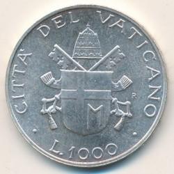 Mynt > 1000lire, 1987 - Vatikanstaten  - reverse