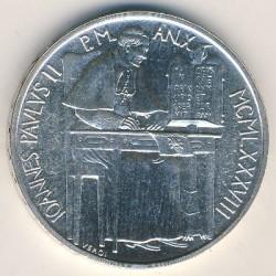 Mynt > 1000lire, 1988 - Vatikanstaten  - obverse