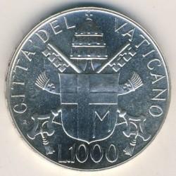 Mynt > 1000lire, 1988 - Vatikanstaten  - reverse