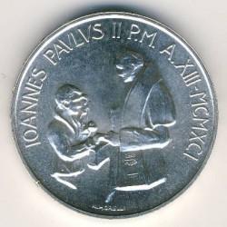 Minca > 1000lire, 1991 - Vatikán  - obverse