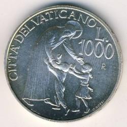 Монета > 1000лири, 1996 - Ватикан  - reverse