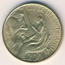 Monēta > 200liru, 1988 - Vatikāns  - reverse
