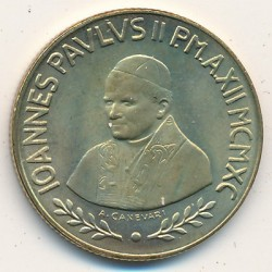 Minca > 200lire, 1990 - Vatikán  (Blessed Virgin) - reverse