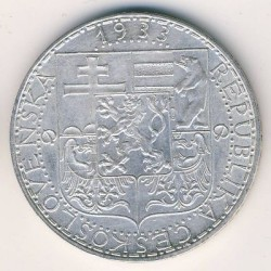 Moneda > 20coronas, 1933-1934 - Checoslovaquia  - obverse